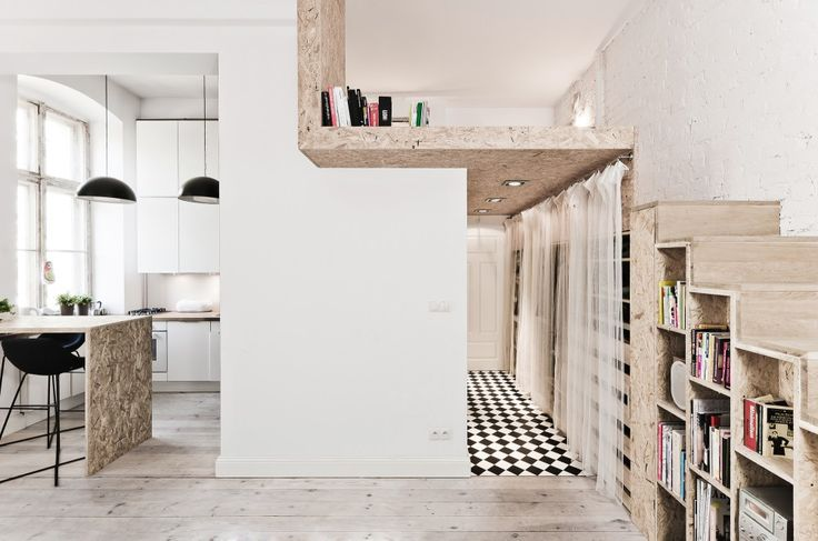 Designed by 3XA architects, this small apartment maximises it's use of space while creating distinct 'rooms' within an open plan layout. Check out http://humble-homes.com/small-apart-incorporates-mezzanine-bedroom-to-maximize-on-space/ for more info & pics!