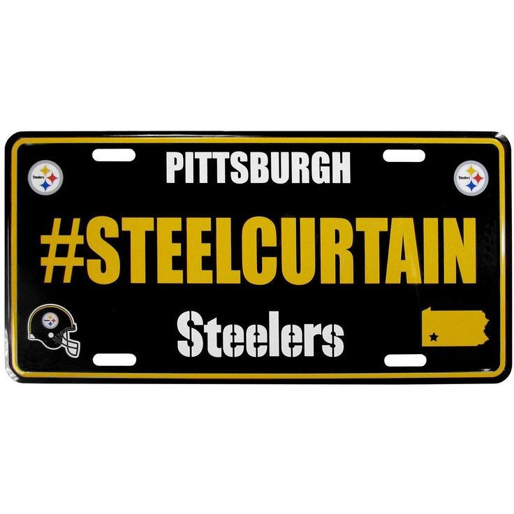 Pittsburgh Steelers License Plate Hashtag