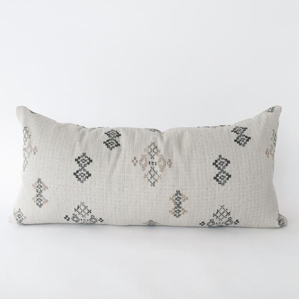 A pale putty grey pillow