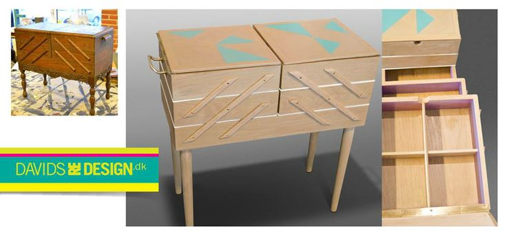 Vintage sewing cabinet, redesigned. Upcycling