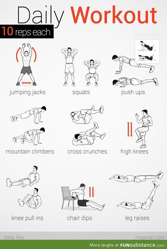 Best easy daily workouts ideas on pinterest