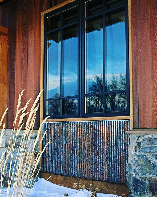 Beautiful Corrugated Accent Below The Window Using Bridger