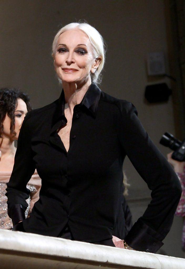 Carmen Dell'Orefice attends the Alberta Ferretti fashion show during Pitti Immagine Uomo January 2011 Florence
