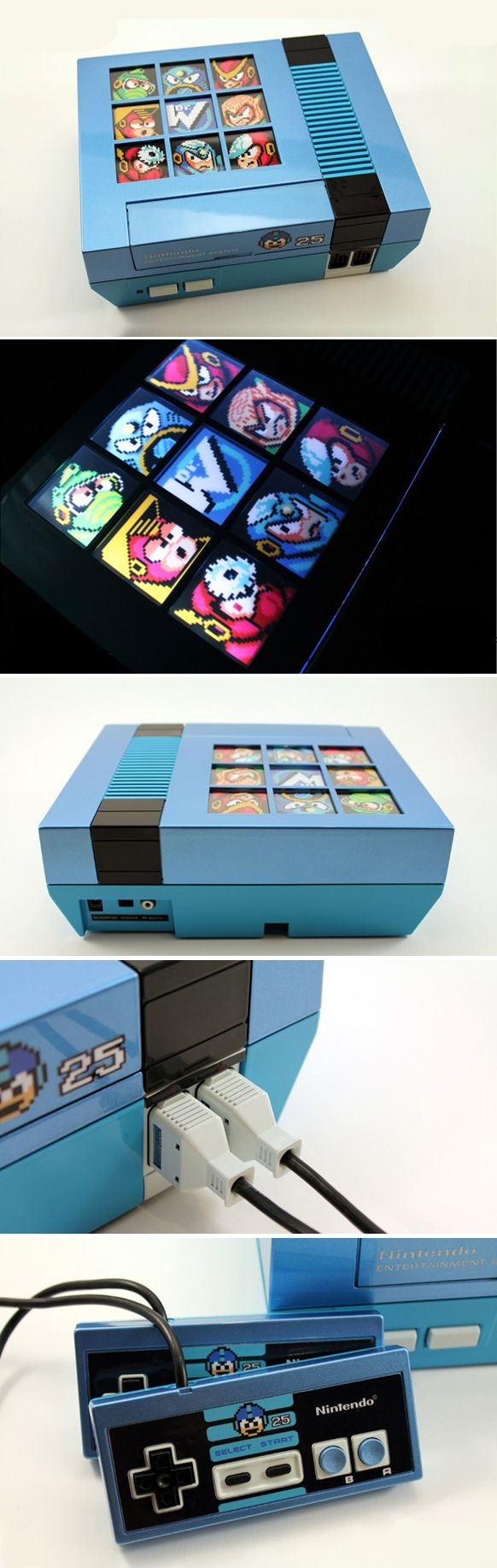 Mega Man - Custom 25th Anniversary MEGA MAN Backlit NES
