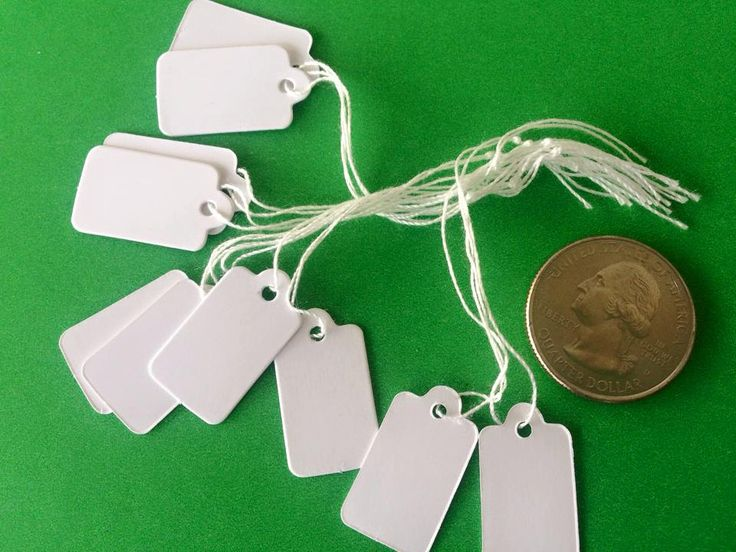 500 Price Jewelry Tags Labels Hanging Boutique Small White Retail Supplies with string 23 x 13mm Bulk Craft Shows Bazaar Tags by theglassconnection on Etsy
