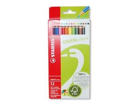 12 kleurpotloden van Stabilo FSC goedgekeurd