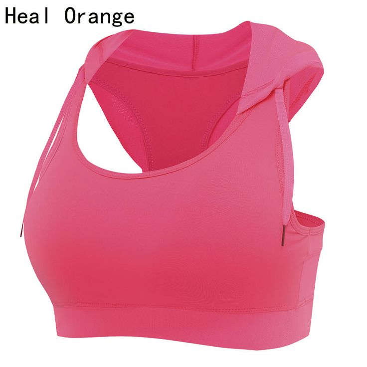 HEAL ORANGE Womens Running Vest Hooded Sports Bra Padded Corsets Gym Sports Vest Womens Tank Tops Bodybuilding Fitness Shirt *** AliExpress Affiliate's buyable pin. Detailed information can be found on www.aliexpress.com by clicking on the image