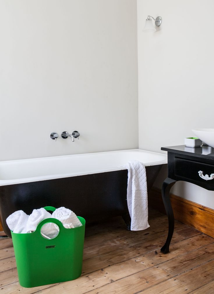 We added modern mixer bathroom taps to the existing Victorian style bath.