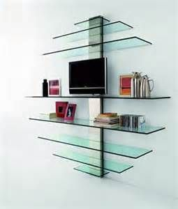 there is a variety of glass shelving units being used these days all ...