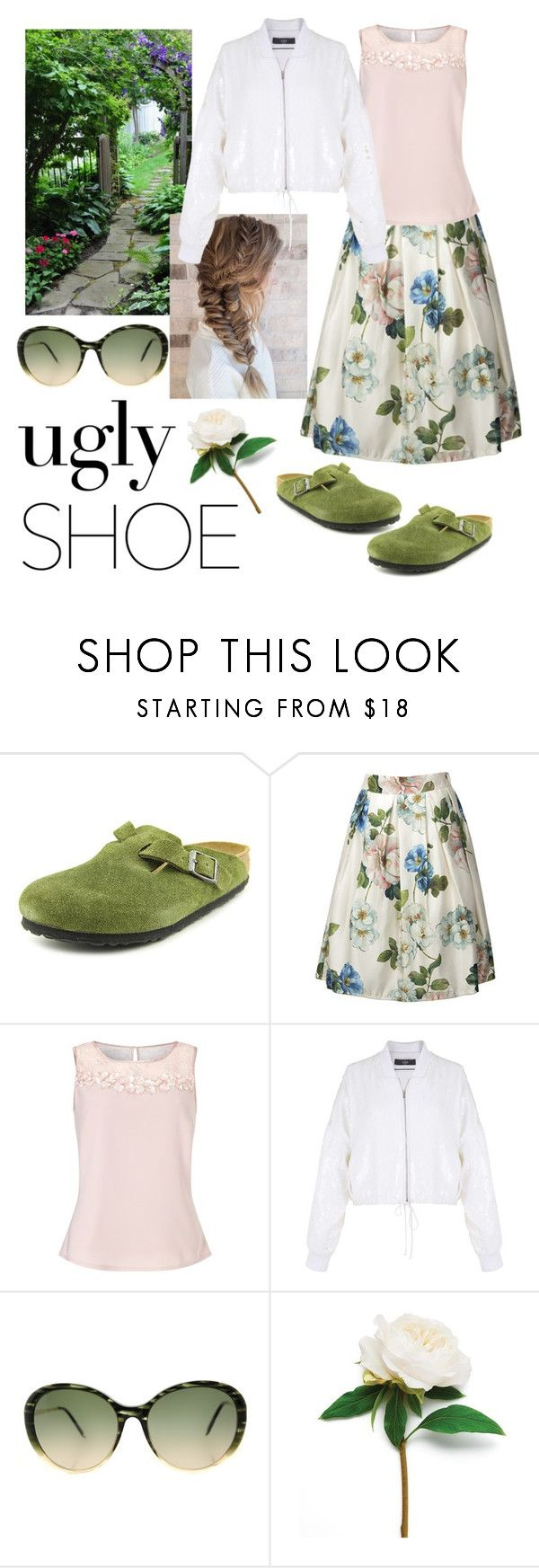 """""""Buy ugly, look beautiful"""" by janew455 ❤ liked on Polyvore featuring Birkenstock, Jacques Vert, TIBI and Victoria Beckham"""