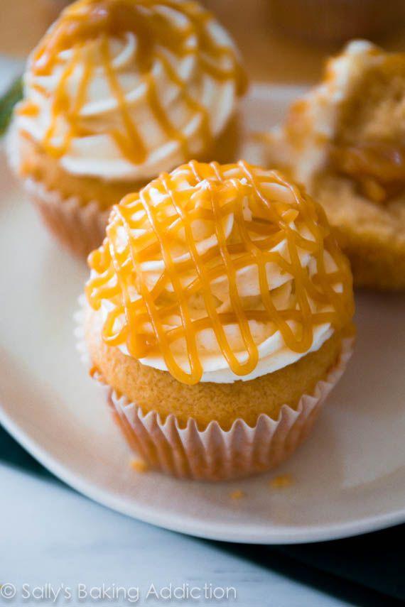 Brown sugar butterscotch cupcakes