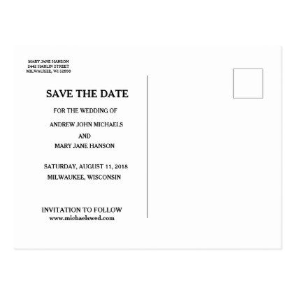 Traditional Catholic SAVE THE DATE Wedding Postcard - engagement gifts ideas diy special unique personalize