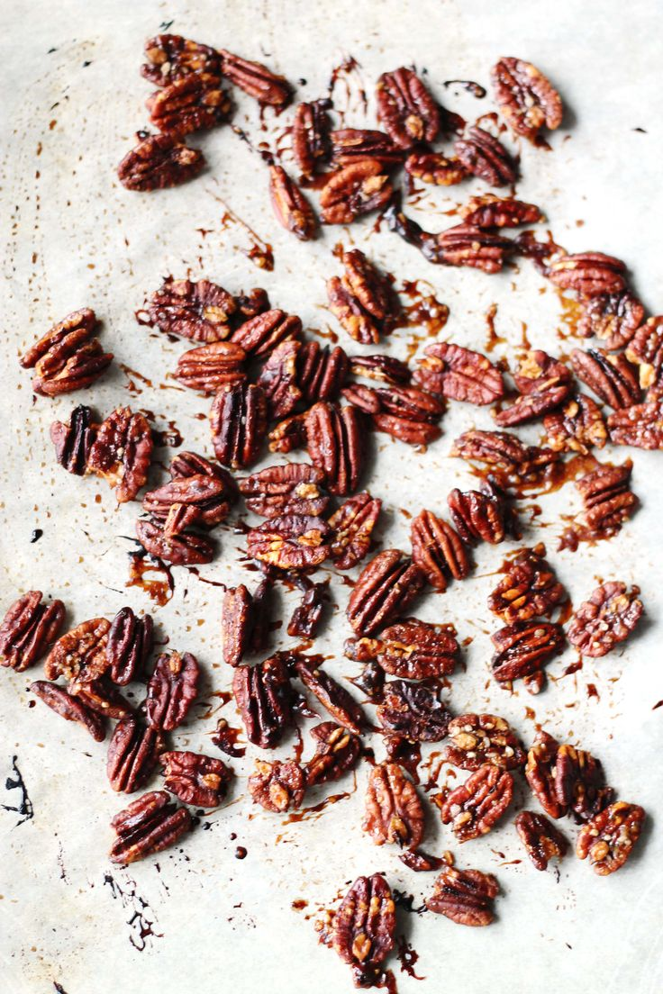 Maple Roasted Pecans. So amazing. Family gobbled up the whole batch in one day!  ~Cooks with Cocktails~