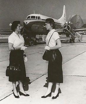 VARIG air hostesses, 1950s::: | VARIG | :::