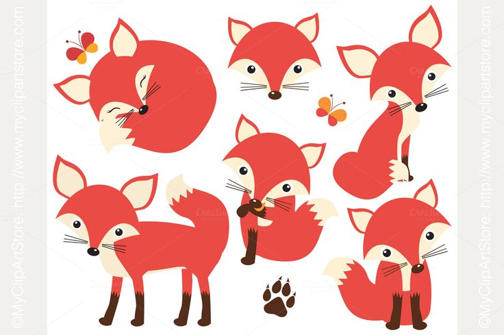 So Foxy! (Fox / Vixen Clipart) by MyClipArtStore on @creativemarket