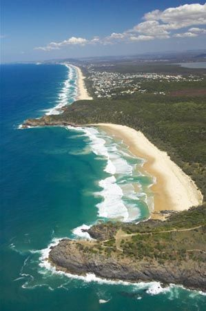 Beautiful beaches on the Sunshine Coast, Queensland, Australia