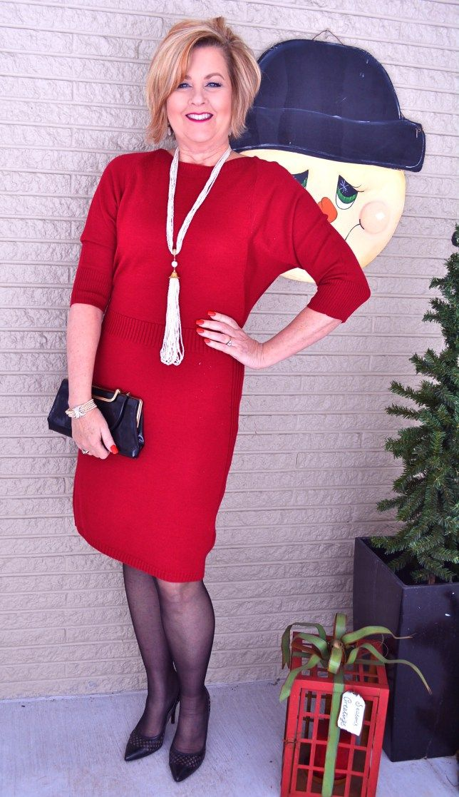 50 Is Not Old | Valentine's Day 2016 | Red Dress | Pearls | Fashion over 40 for the everyday woman