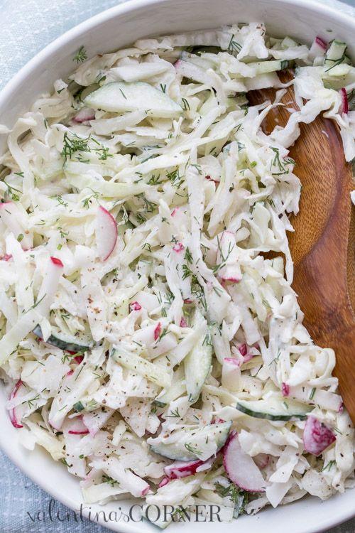 Cabbage Cucumber Radish Salad More