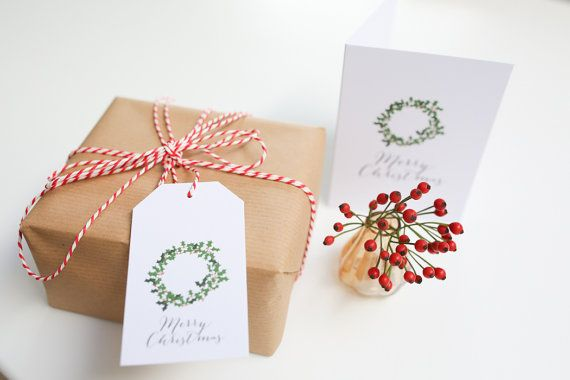 10 pack of Charity Christmas Gift Tags  Wreath and by lucysaysido, £3.00