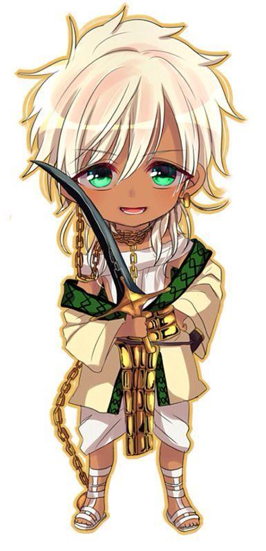 Character: Sharrkan Amun-Ra from Manga, Anime: Magi Labyrinth of Magic, Chibi Version
