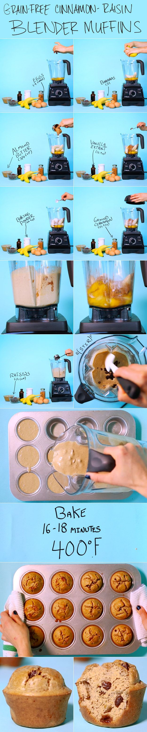 Make a batch whenever you have ripe bananas, then eat them for breakfast all week!