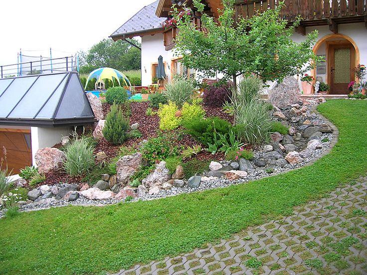 Die besten 25+ Gartengestaltung hanglage Ideen auf Pinterest - vorgarten gestalten pflegeleicht modern