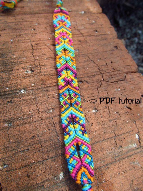DIY Joyful Colors Friendship Bracelet Making Pattern and Description in a PDF file