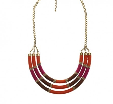 Three Strand Pink Wrap Necklace