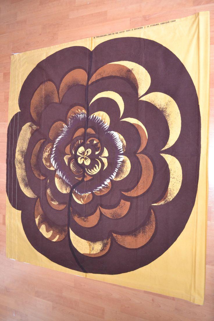 A personal favorite from my Etsy shop https://www.etsy.com/se-en/listing/270686703/marimekko-vintage-fabric-wallhanging