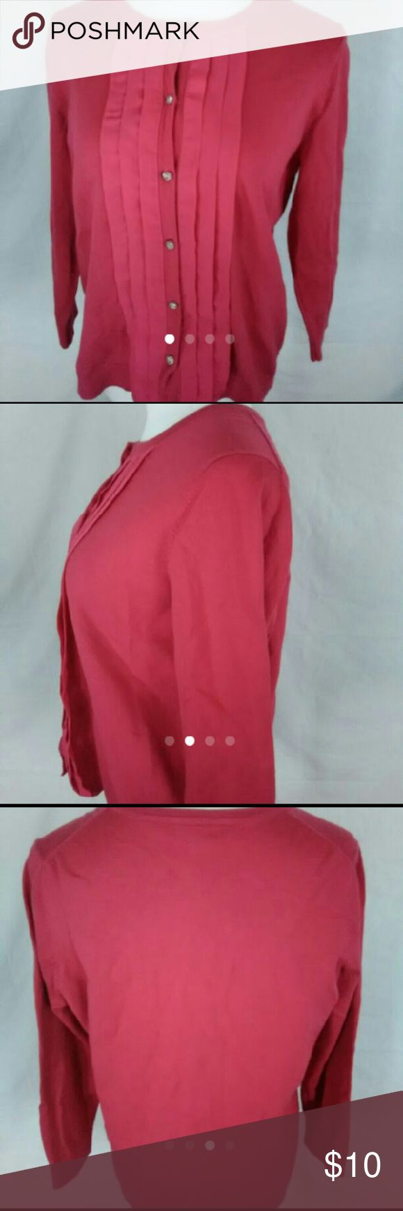 Charter club pink cardigan sweater size XL Measurements  Armpit to armpit 21in Length 24in Charter Club Tops Button Down Shirts