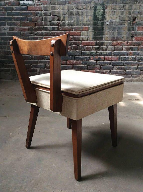 Mid Century Vanity Chair Mid Century Sewing Chair Danish Vanity