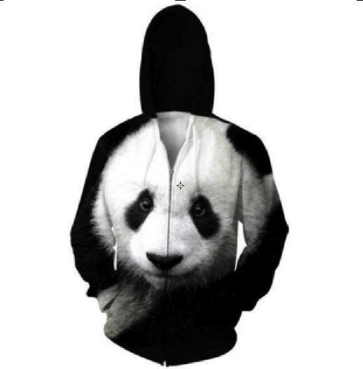 Cute Panda Rare Animal 3D Printed Unisex Zip Hoodie  #3dprintedclothing #whattimeisit #timeforclothes