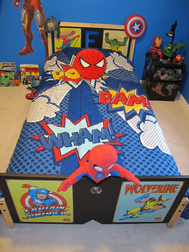 Superhero Bed Ideas For Boys Room Pinterest Beds And