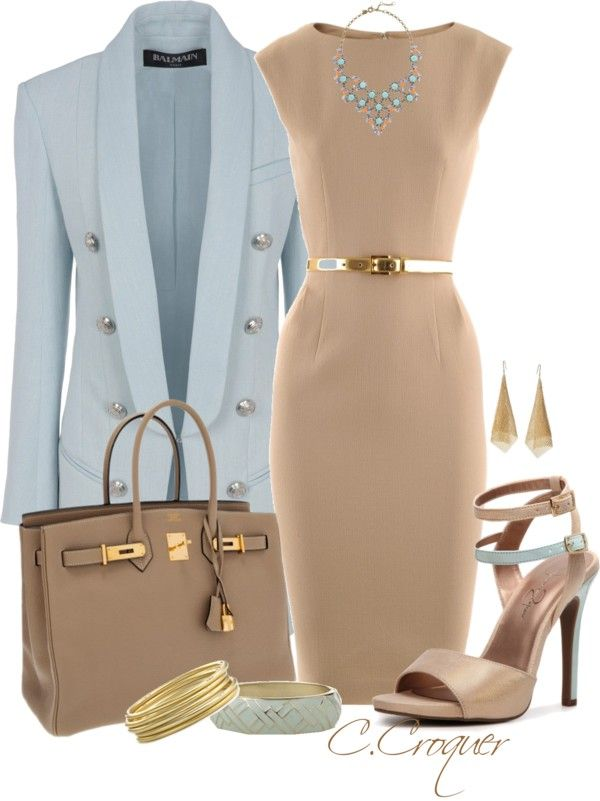 """Classy with these heels"" by ccroquer ❤ liked on Polyvore"