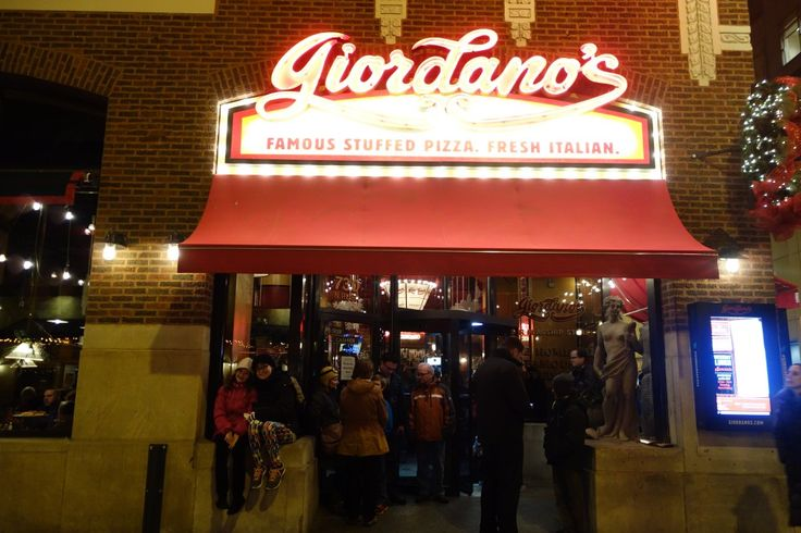 Giordano's deep dish pizza Chicago