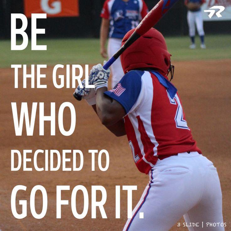Go for it girl  #softballstrong