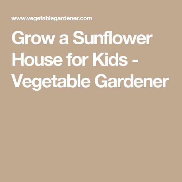 Grow a Sunflower House for Kids - Vegetable Gardener