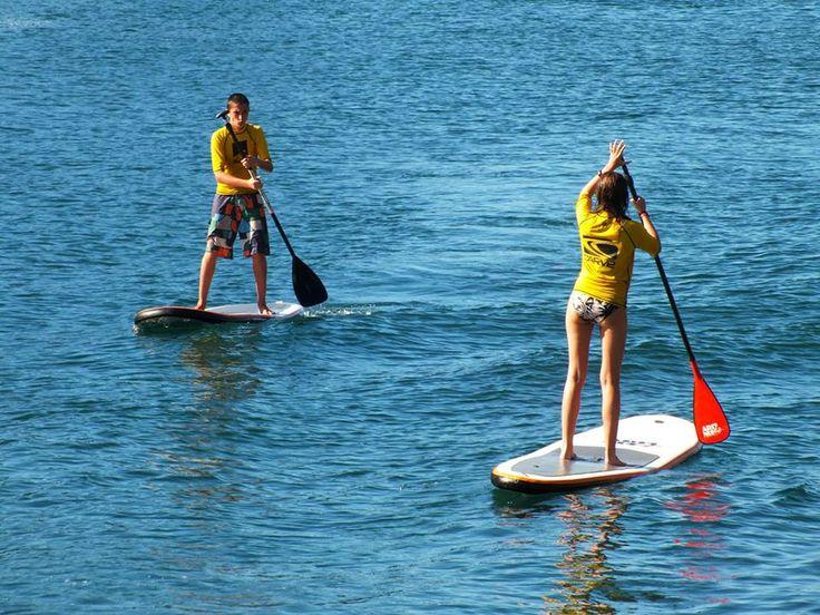 paddle surf, mer, voyage, aventure mesure, voyage, tourisme, Espagne