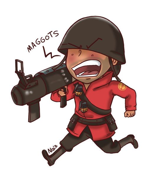Soldier from Team Fortress 2 Magnet Aha my super serious video games!!
