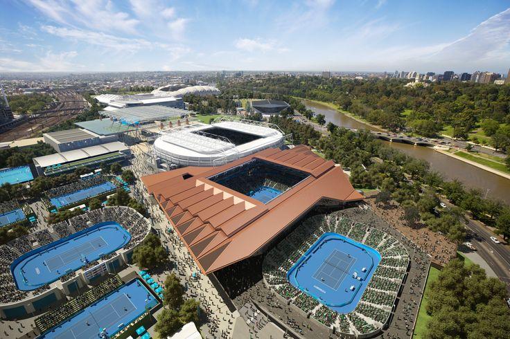Margaret Court Arena, Melbourne. 3D visualisation by Scharp #scharp #3dvisualisation #3dvisualization #stadium
