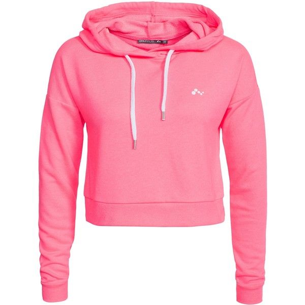 Only Play Onplavina Cropped Sweat found on Polyvore featuring tops, hoodies, sweatshirts, jackets, shirts, sweatshirt, sweaters, jumpers & cardigans, pink and sports fashion