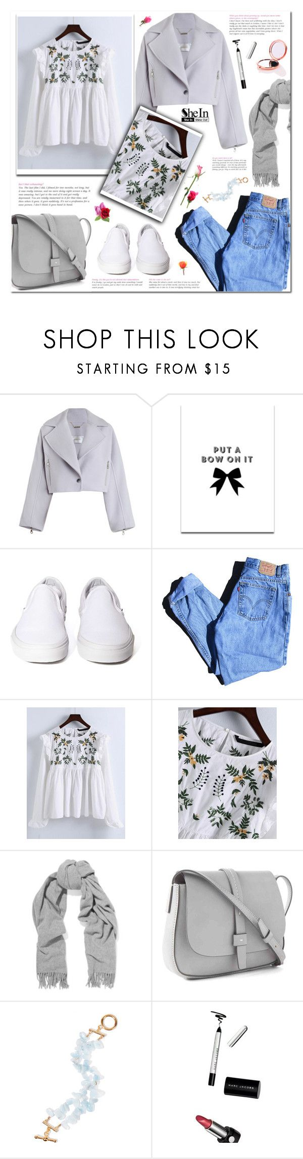 """Spring Trend: Embroidery"" by laurajanekatriina ❤ liked on Polyvore featuring Zimmermann, SS Print Shop, Vans, Levi's, Acne Studios, Gap, Kenneth Jay Lane and Skinnydip"