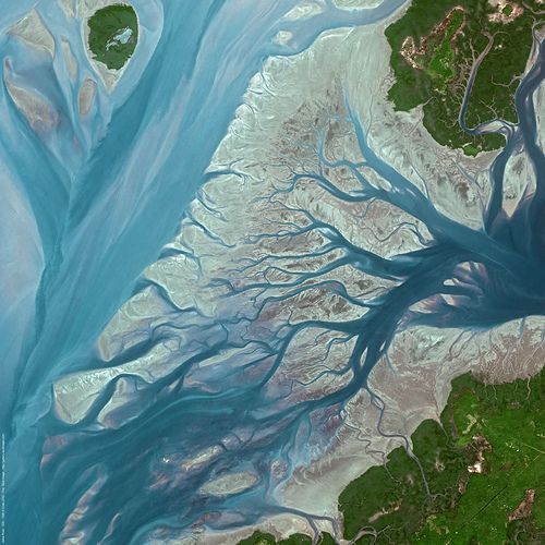 Satellite image - Geba River   Guinea-Bissau (by spotimage) http://www.travelbrochures.org/92/africa/go-to-see-guinea-bissau
