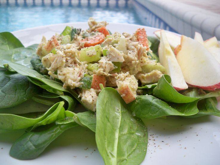 This sounds delicious...and I love this site! It's all about gluten, dairy, sugar free recipes. :-) This is Healthy Chicken Salad. YUM!