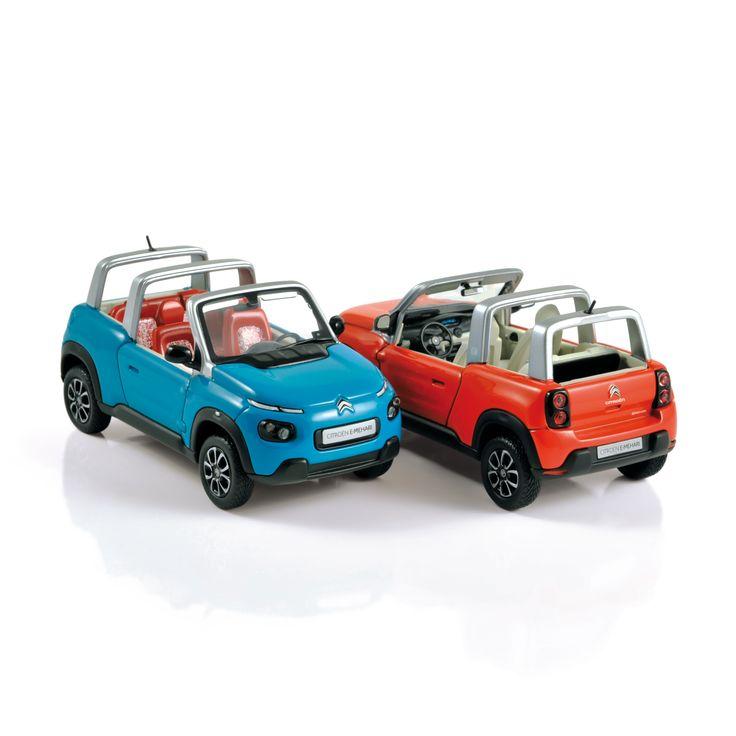 1:43 NOREV Collectors  150960 Citroën E-MEHARI 2016 Orange 150961 Citroën E-MEHARI 2016 Blue ✔ production samples / exemplaires de production