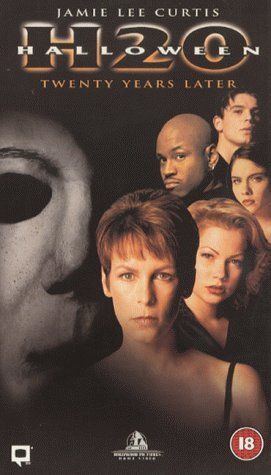 Halloween H20: Twenty Years Later (1998), Dimension Films with Jamie Lee Curtis, Josh Hartnett, Adam Arkin, Michelle Williams, LL Cool J, and Chris Durand (as Michael Myers).
