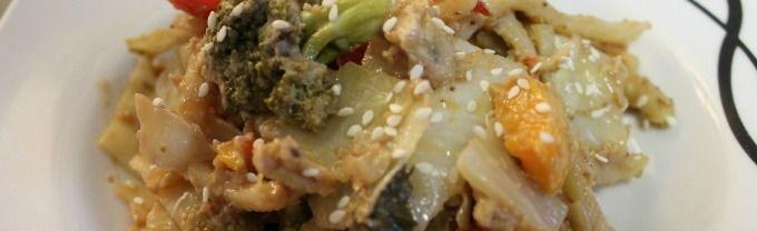 Peanut lime stir fry with tempeh