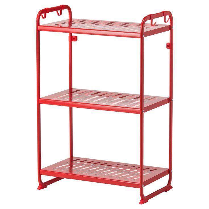 MULIG Shelving unit - red