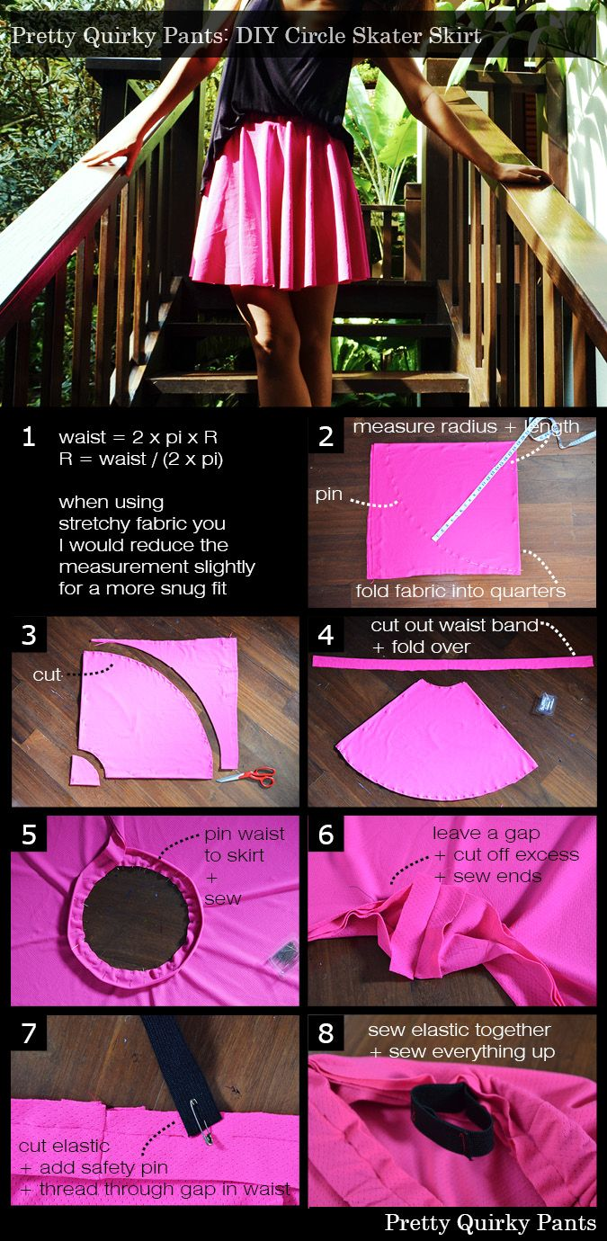 Instruction Layout - circle skater skirt with feature