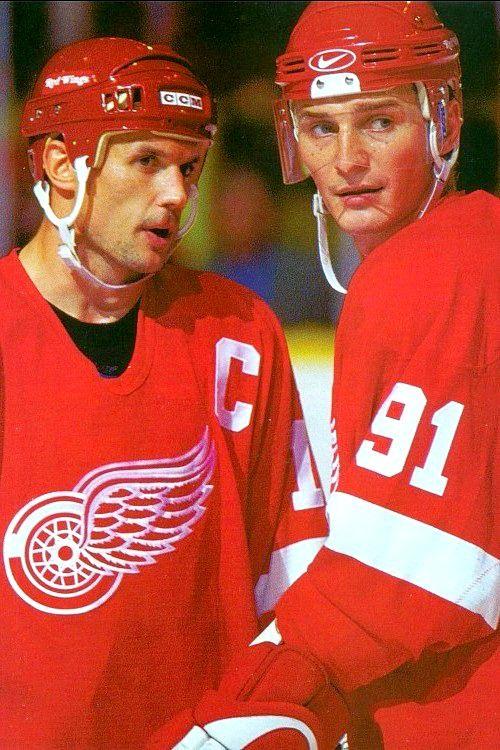 Steve Yzerman & Sergei Federov | Detroit Red Wings